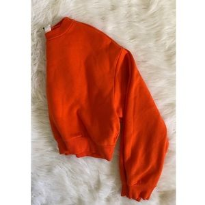 Orange Cropped Sweater